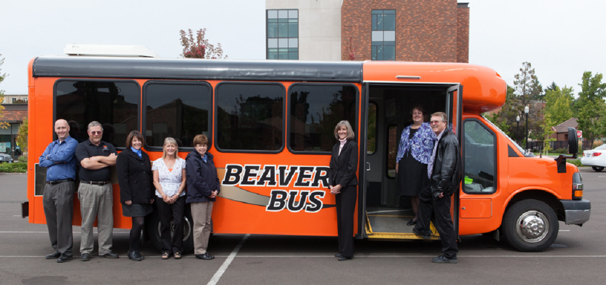 Our Procurement and Contract Services team with the Beaver Bus
